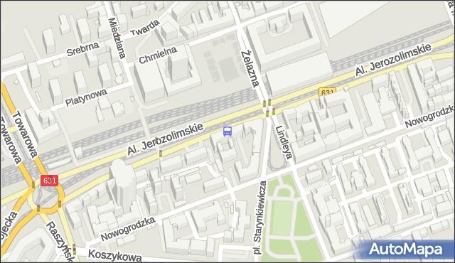 Przystanek pl.Starynkiewicza 01. ZTM Warszawa - Warszawa (id 405201) na mapie Targeo