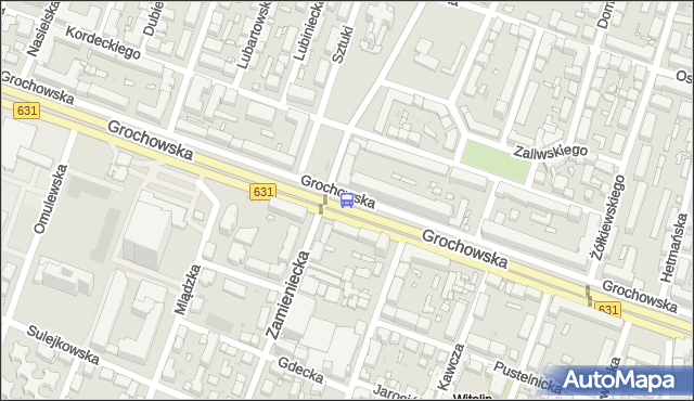 Przystanek pl.Szembeka 03. ZTM Warszawa - Warszawa (id 201103) na mapie Targeo