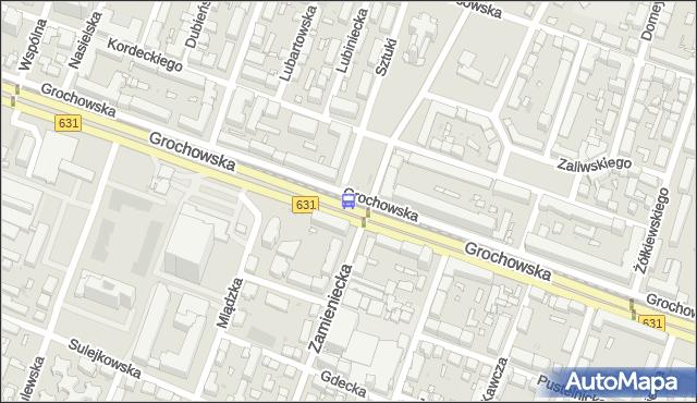 Przystanek pl.Szembeka 04. ZTM Warszawa - Warszawa (id 201104) na mapie Targeo