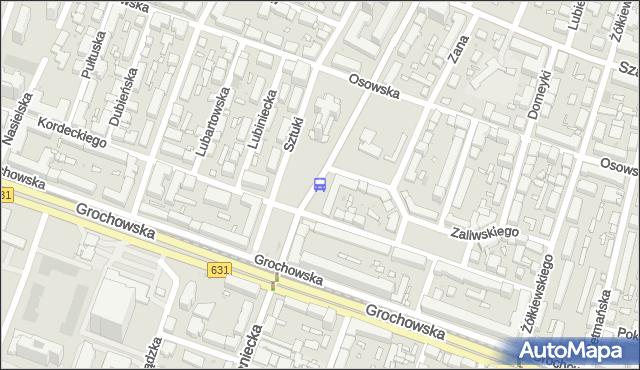 Przystanek pl.Szembeka 08. ZTM Warszawa - Warszawa (id 201108) na mapie Targeo