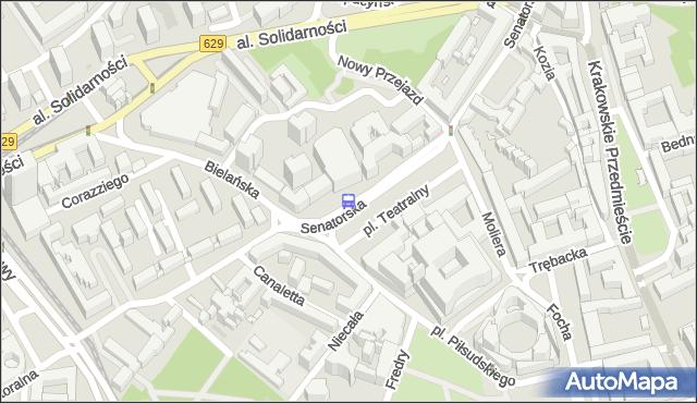 Przystanek pl.Teatralny 02. ZTM Warszawa - Warszawa (id 702602) na mapie Targeo