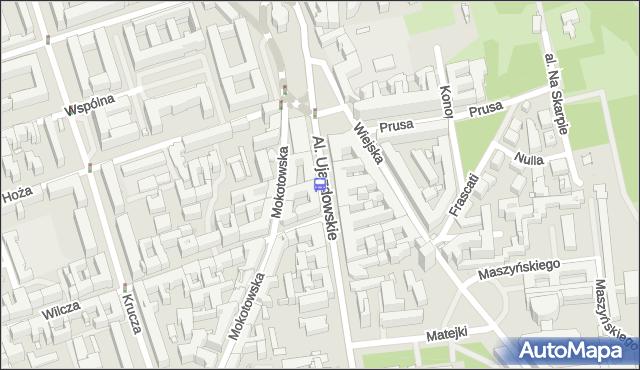 Przystanek pl.Trzech Krzyży 03. ZTM Warszawa - Warszawa (id 704003) na mapie Targeo
