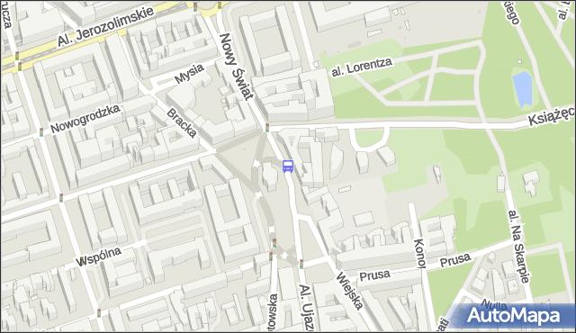 Przystanek pl.Trzech Krzyży 04. ZTM Warszawa - Warszawa (id 704004) na mapie Targeo