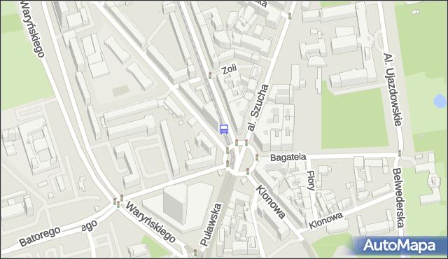 Przystanek pl.Unii Lubelskiej 05. ZTM Warszawa - Warszawa (id 300105) na mapie Targeo