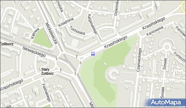 Przystanek pl.Wilsona 05. ZTM Warszawa - Warszawa (id 600305) na mapie Targeo