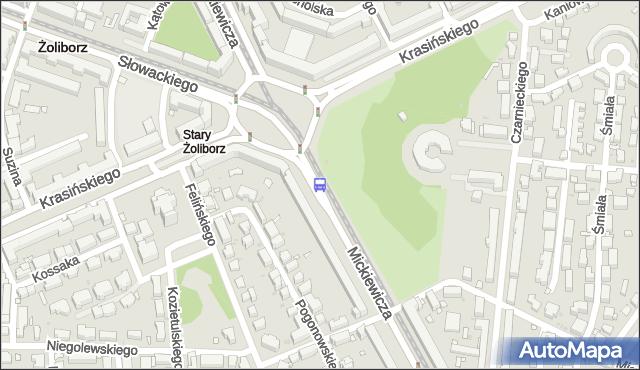 Przystanek pl.Wilsona 08. ZTM Warszawa - Warszawa (id 600308) na mapie Targeo