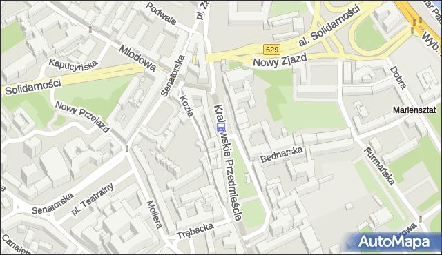 Przystanek pl.Zamkowy 01. ZTM Warszawa - Warszawa (id 704601) na mapie Targeo