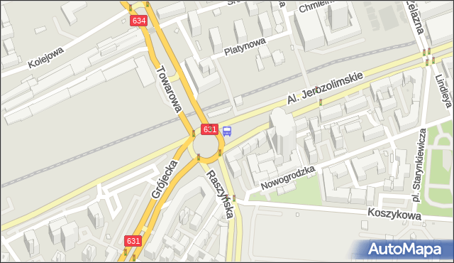 Przystanek pl.Zawiszy 08. ZTM Warszawa - Warszawa (id 400108) na mapie Targeo