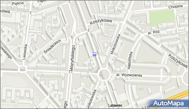 Przystanek pl.Zbawiciela 03. ZTM Warszawa - Warszawa (id 701003) na mapie Targeo