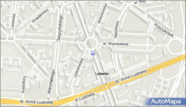 Przystanek pl.Zbawiciela 04. ZTM Warszawa - Warszawa (id 701004) na mapie Targeo