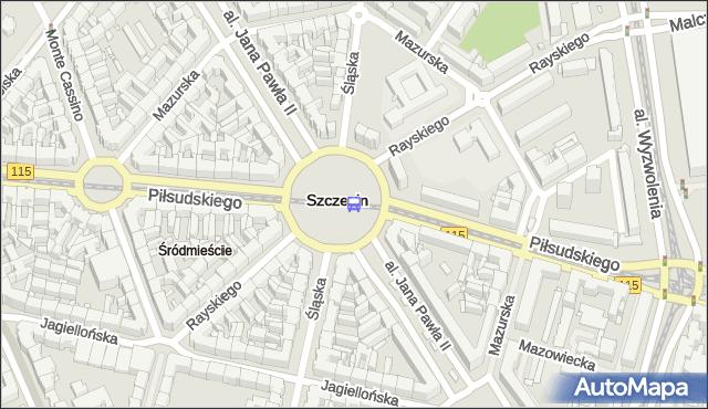 Przystanek Plac Grunwaldzki 11. ZDiTM Szczecin - Szczecin (id 11611) na mapie Targeo