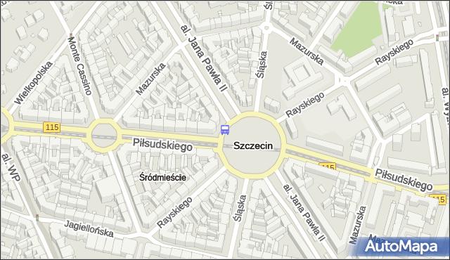Przystanek Plac Grunwaldzki 23. ZDiTM Szczecin - Szczecin (id 11623) na mapie Targeo