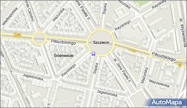 Przystanek Plac Grunwaldzki 31. ZDiTM Szczecin - Szczecin (id 11631) na mapie Targeo