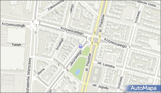 Przystanek Plac Kościuszki 42. ZDiTM Szczecin - Szczecin (id 10442) na mapie Targeo