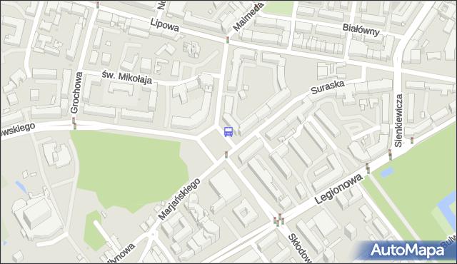 Przystanek Plac NZS. BKM - Białystok (id 449) na mapie Targeo