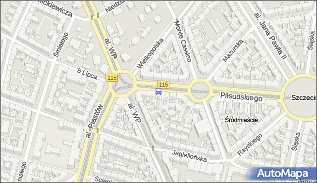 Przystanek Plac Szarych Szeregów 14. ZDiTM Szczecin - Szczecin (id 11714) na mapie Targeo