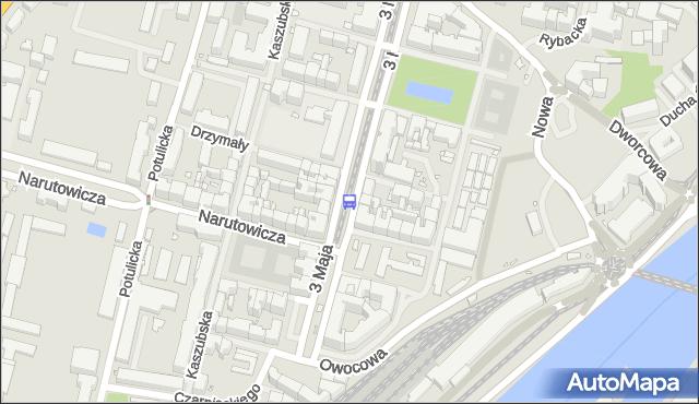 Przystanek Plac Zawiszy 13. ZDiTM Szczecin - Szczecin (id 22813) na mapie Targeo