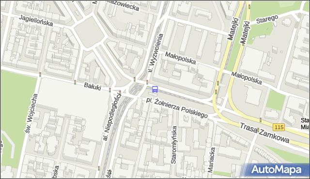 Przystanek Plac Żołnierza Polskiego 21. ZDiTM Szczecin - Szczecin (id 11321) na mapie Targeo