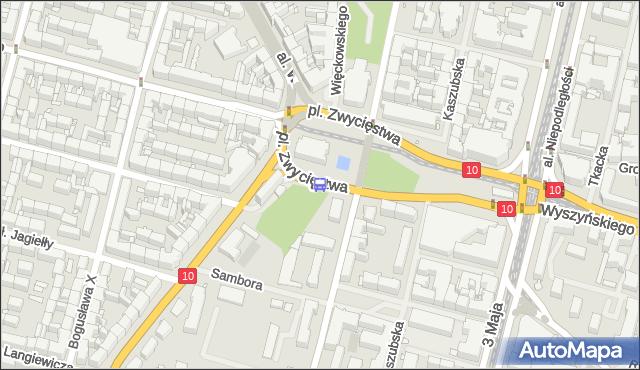 Przystanek Plac Zwycięstwa 31. ZDiTM Szczecin - Szczecin na mapie Targeo