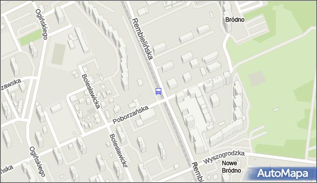 Przystanek Poborzańska 01. ZTM Warszawa - Warszawa (id 108401) na mapie Targeo