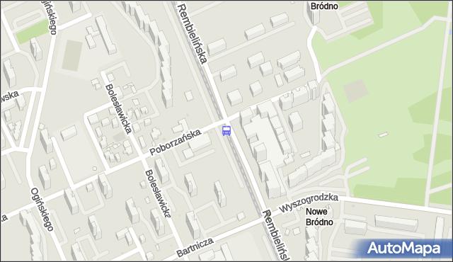 Przystanek Poborzańska 02. ZTM Warszawa - Warszawa (id 108402) na mapie Targeo
