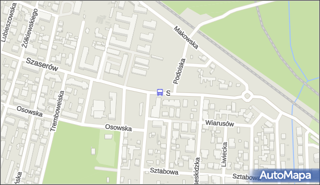 Przystanek Podolska 01. ZTM Warszawa - Warszawa (id 226701) na mapie Targeo
