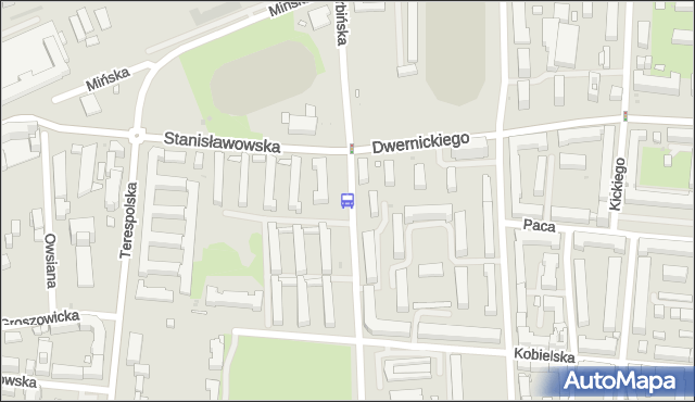 Przystanek Podskarbińska 01. ZTM Warszawa - Warszawa (id 211601) na mapie Targeo