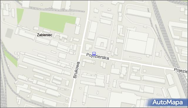 Przystanek Pojezierska - Brukowa. MPKLodz - Łódź (id 1774) na mapie Targeo