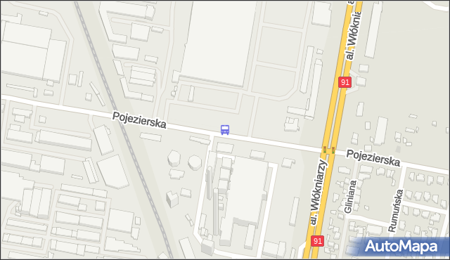 Przystanek Pojezierska - Elektrociepłownia EC3. MPKLodz - Łódź (id 1776) na mapie Targeo