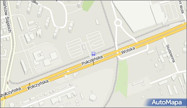 Przystanek Połczyńska-parking P+R 04. ZTM Warszawa - Warszawa (id 500104) na mapie Targeo
