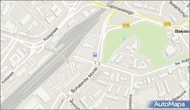 Przystanek Poleska/Św.Rocha. BKM - Białystok (id 58) na mapie Targeo