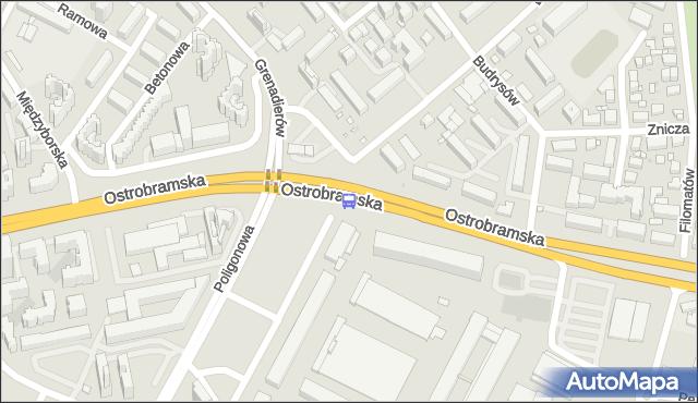 Przystanek Poligonowa 02. ZTM Warszawa - Warszawa (id 210102) na mapie Targeo