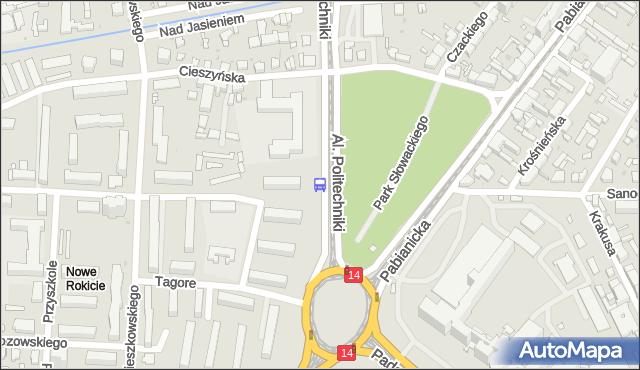 Przystanek Politechniki - r. Lotników Lwowskich. MPKLodz - Łódź (id 822) na mapie Targeo