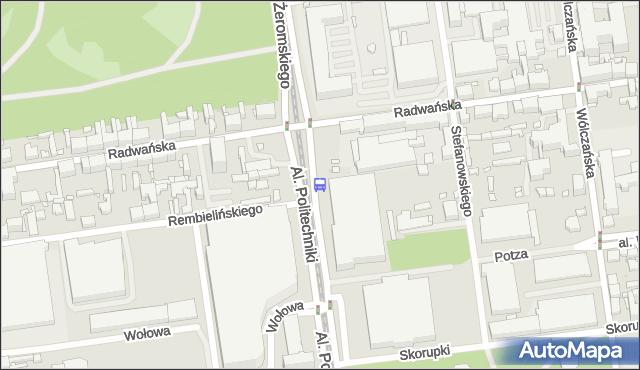 Przystanek Politechniki - Radwańska (kampus PŁ). MPKLodz - Łódź (id 816) na mapie Targeo