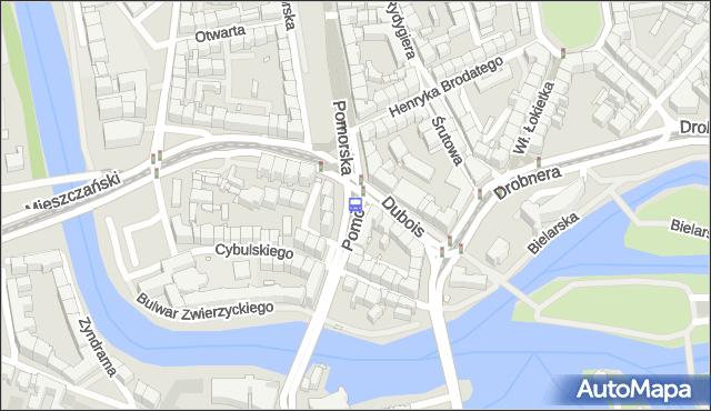 Przystanek Pomorska. MPKWroclaw - Wrocław (id 110601) na mapie Targeo
