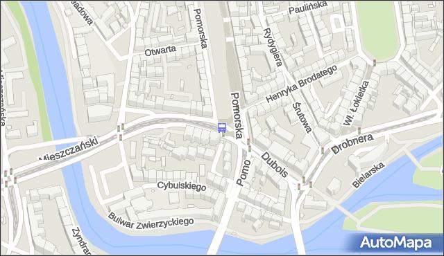 Przystanek Pomorska. MPKWroclaw - Wrocław (id 110655) na mapie Targeo