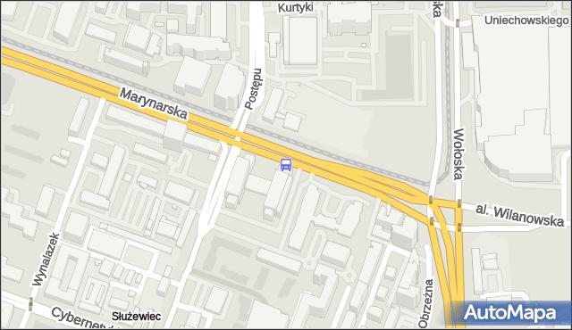 Przystanek Postępu 01. ZTM Warszawa - Warszawa (id 325001) na mapie Targeo