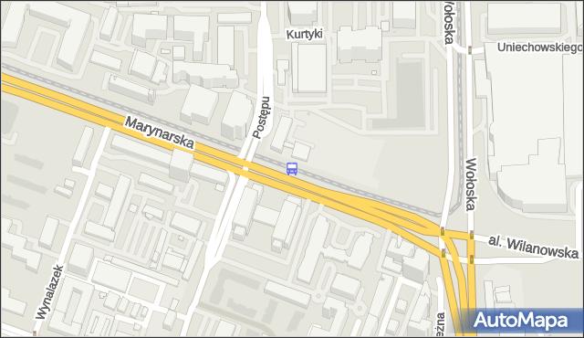 Przystanek Postępu 03. ZTM Warszawa - Warszawa (id 325003) na mapie Targeo