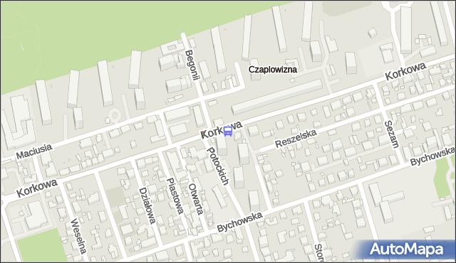 Przystanek Potockich 02. ZTM Warszawa - Warszawa (id 206202) na mapie Targeo