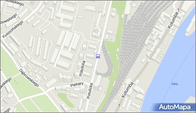 Przystanek Potulicka 11. ZDiTM Szczecin - Szczecin (id 23111) na mapie Targeo