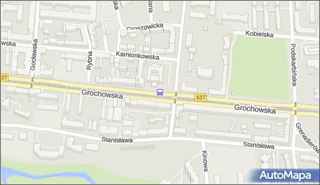 Przystanek Praga-Płd.-Ratusz 01. ZTM Warszawa - Warszawa (id 200501) na mapie Targeo