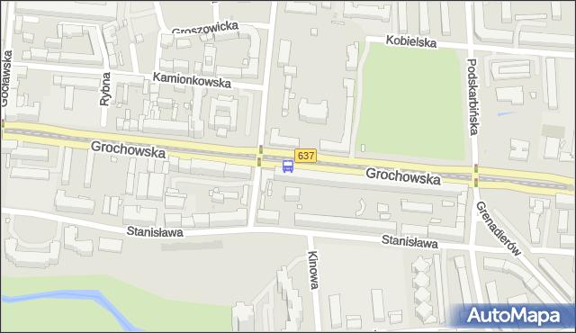 Przystanek Praga-Płd.-Ratusz 02. ZTM Warszawa - Warszawa (id 200502) na mapie Targeo