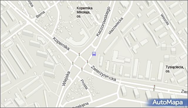 Przystanek prez.R.Kaczorowskiego/Zwierzyniecka. BKM - Białystok (id 530) na mapie Targeo
