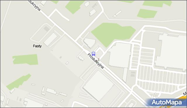 Przystanek PRODUKCYJNA/PEUIM. BKM - Białystok (id 354) na mapie Targeo