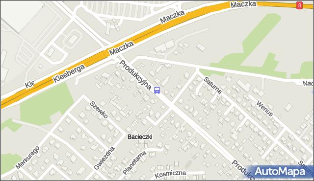 Przystanek Produkcyjna/Saturna. BKM - Białystok (id 352) na mapie Targeo