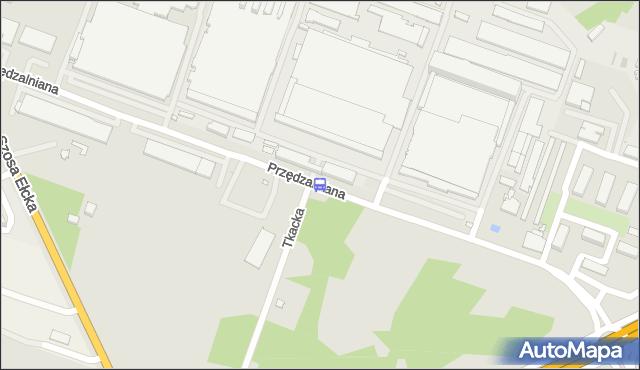 Przystanek PRZĘDZALNIANA/PĘTLA. BKM - Białystok (id 369) na mapie Targeo