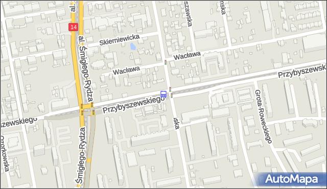 Przystanek Przybyszewskiego - Tatrzańska. MPKLodz - Łódź (id 888) na mapie Targeo