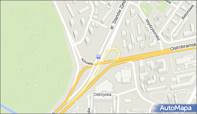 Przystanek Przyczółek Grochowski 01. ZTM Warszawa - Warszawa (id 210001) na mapie Targeo