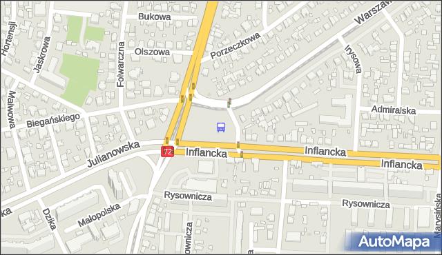 Przystanek r. Powstańców 1863r.. MPKLodz - Łódź (id 494) na mapie Targeo