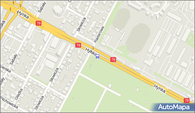Przystanek Radarowa 01. ZTM Warszawa - Warszawa (id 408501) na mapie Targeo